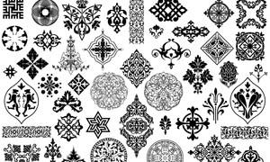 欧式古典花纹图案PSD分层素材