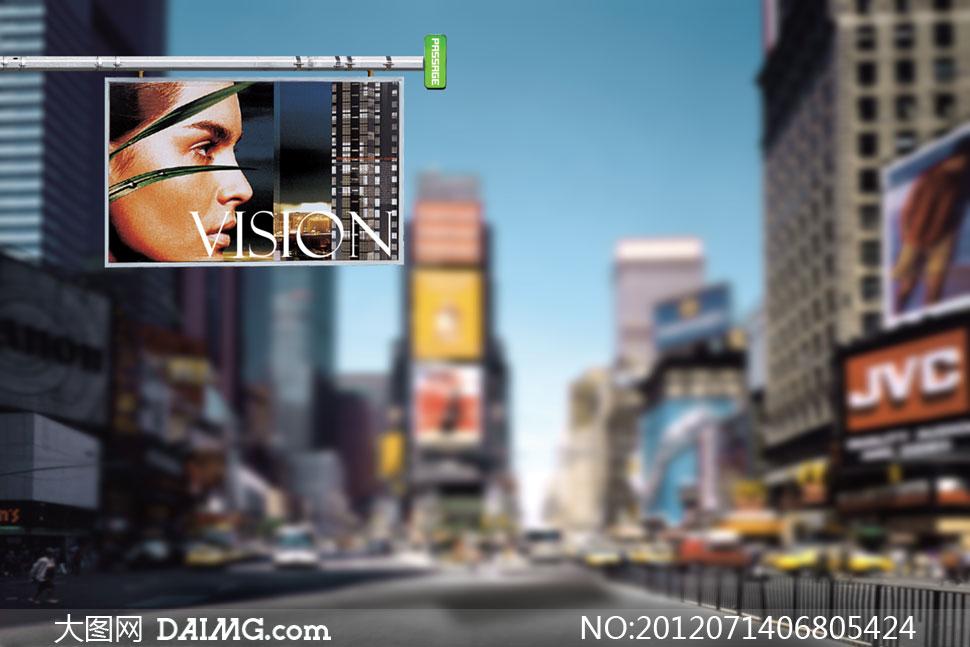 城市商业区影楼摄影背景图片