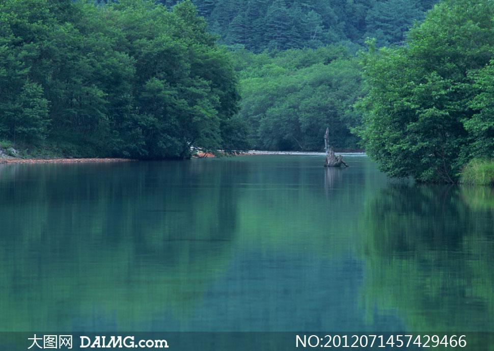 九寨沟自然风景影楼摄影背景图片