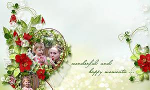 花藤花卉和蝴蝶水果等剪贴图片素材