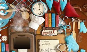 厨房用品和生活用品等实物图片素材