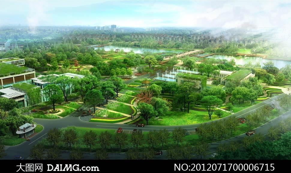 园林绿化景观设计psd分层素材