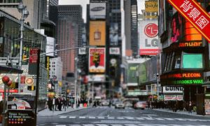 繁华城市商业街影楼摄影背景图片