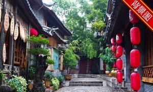 中国风农家庭院影楼摄影背景图片