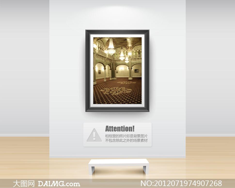 明亮欧式室内场景影楼摄影背景图片