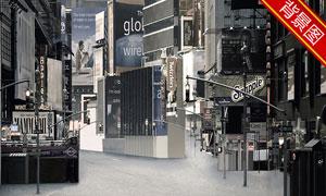 空无一人的街道影楼摄影背景图片