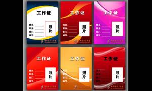 紅色簡潔證件模板設計PSD源文件