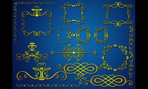 金色装饰边框设计PSD素材