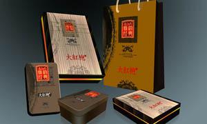 大红袍高档茶叶包装设计PSD源文件