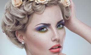 欧美时尚彩妆美女人物摄影高清图片