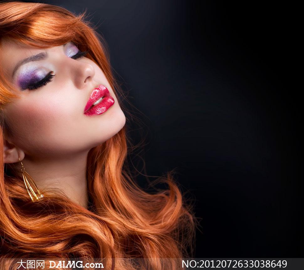 高清摄影素材大图图片人物美女女人女孩外国国外写真时尚模特长发
