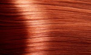橘棕色头发纹理背景高清摄影图片