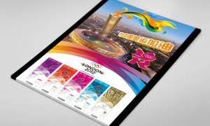 伦敦奥运会展板设计PSD分层素材