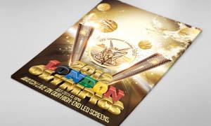 伦敦奥运会展架海报设计PSD源文件