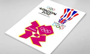 2012倫敦奧運會標志設計PSD分層素材