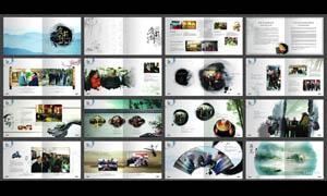 中国风艺术馆画册模板PSD源文件