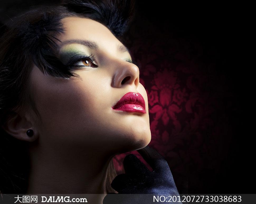 向上看的美女红唇美女v美女图片彩妆-大图网设高清蓬安县图片