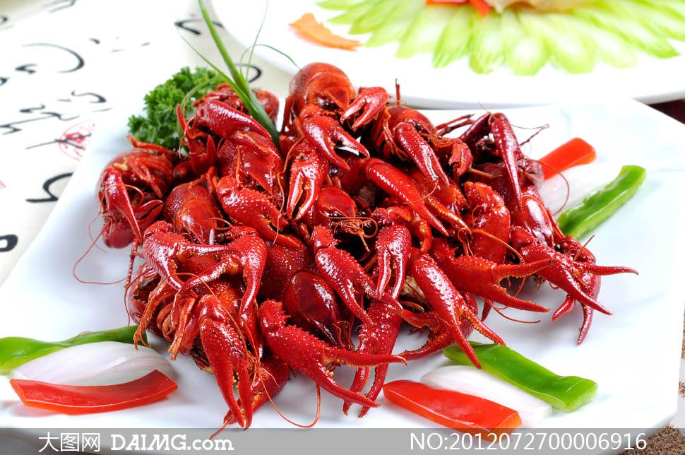 香辣小龙虾美食摄影图片