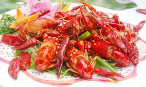 十三香香辣龙虾摄影图片