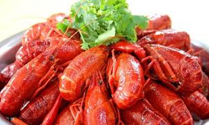 潮式小龙虾美食摄影图片