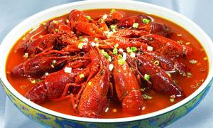 麻辣碗装龙虾美食摄影图片