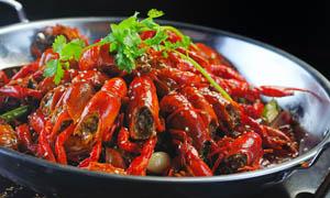 干锅小龙虾美食摄影图片