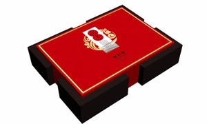 高档花纹茶叶包装设计矢量素材