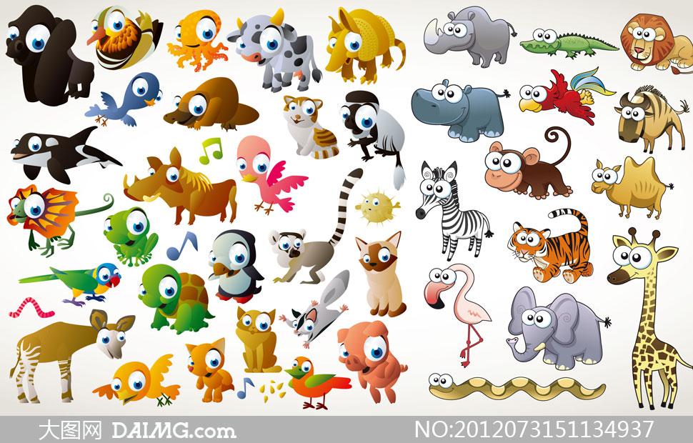 可爱卡通动物萌图