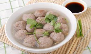 沙县小吃牛肉丸摄影图片