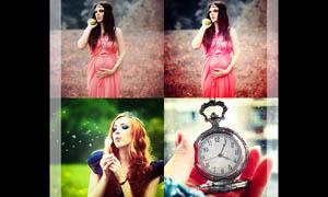 美女照片亮化效果调色动作