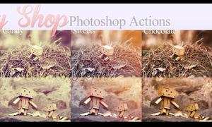 纸鹤照片后期怀旧效果调色动作