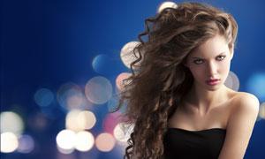 黑色抹胸外国美女人物摄影高清图片