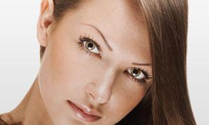 棕色浓密秀发美女人物摄影高清图片