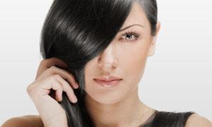 黑亮顺滑秀发美女人物摄影高清图片