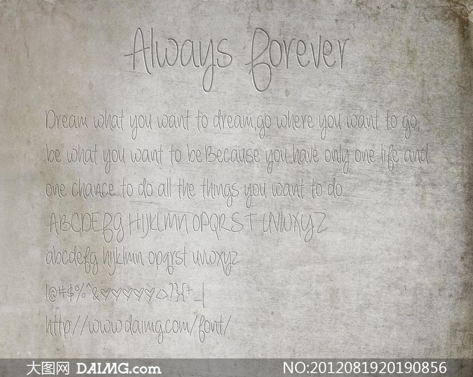 always forever(英文手写体)