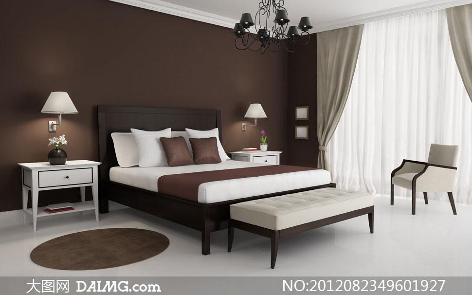 卧室房间家具摆设陈设摄影高清图片