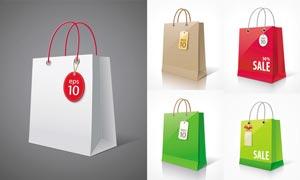 简洁购物袋包装设计矢量素材