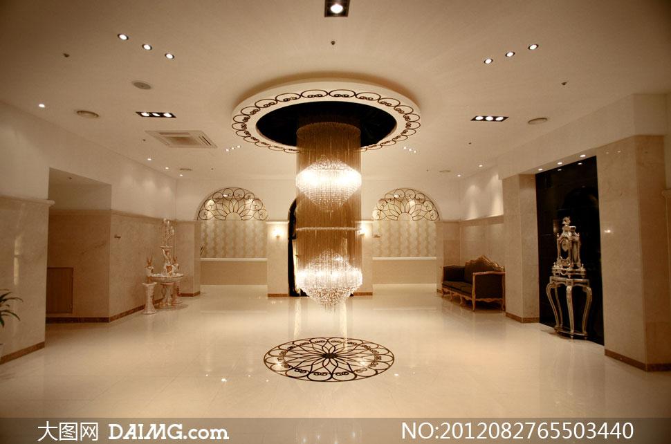 照背景婚纱背景实景棚室内欧式古典水晶灯吊灯灯饰