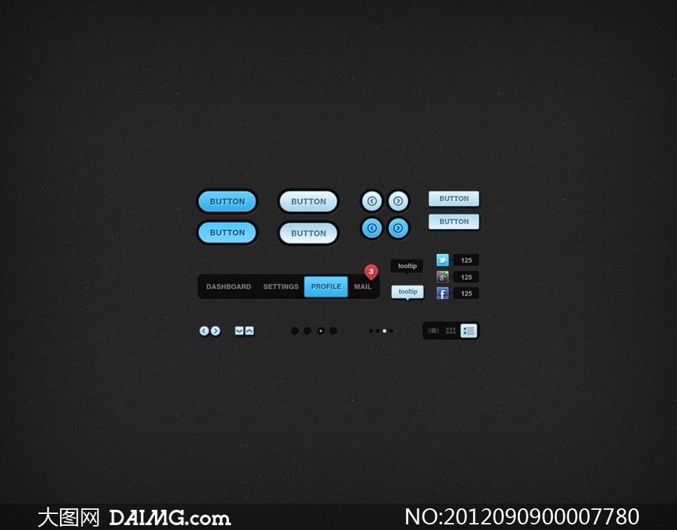 psd素材 网页设计 > 素材信息          网页进度条和下拉框等ui设计