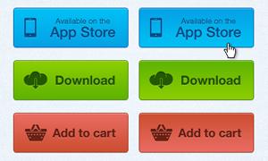 彩色网页按钮设计PSD素材
