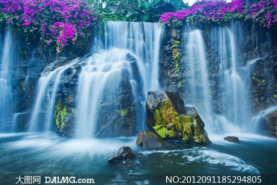 如诗如画瀑布自然风光摄影高清图片
