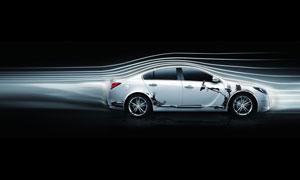 动感流线与白色轿车创意高清图片