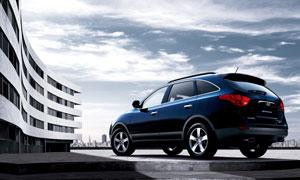 现代维拉克斯SUV汽车摄影高清图片
