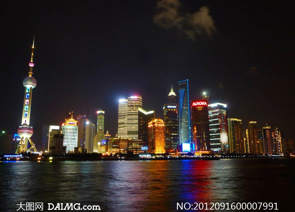 上海浦东夜景摄影图片图片
