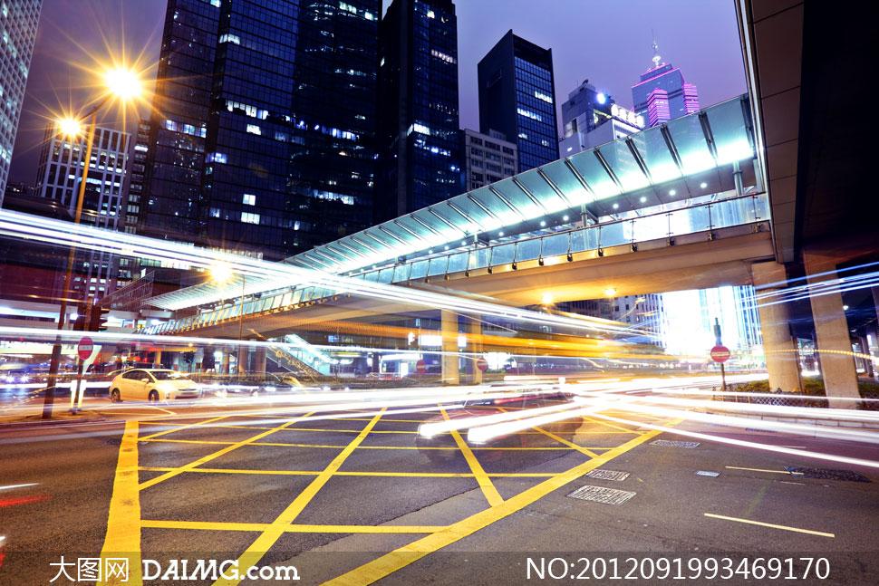 城市交叉路口风光创意设计高清图片