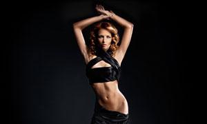 卷发性感服饰美女模特摄影高清图片