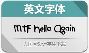 MTF Hello Again(手写英文字体)