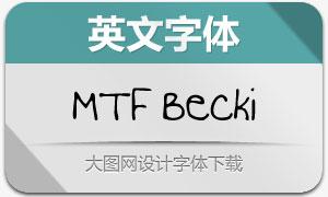 MTF Becki(英文手写字体)