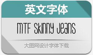 MTF Skinny Jeans(英文手写字体)