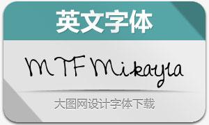 MTF Mikayla(英文手写字体)